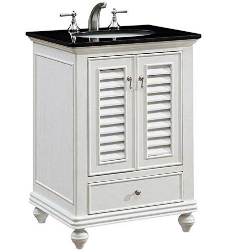 Granit Vanity - Elegant Decor VF-1022 Single Bathroom Vanity Set, 25