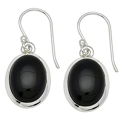 Black Onyx Dangle 925 Solid Sterling Silver Earrings Silver Jewelry on sale