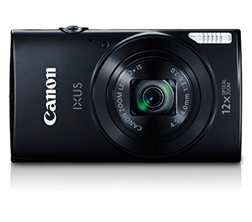 Canon IXUS 170 20MP Point and Shoot Digital Camera with 12x Optical Zoom  Black, 8  GB Memory Card and Camera case