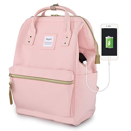 Himawari Travel Backpack Laptop Backpack Large Diaper Bag Doctor Bag Backpack School Backpack for Women&Men (H900d-L USB Pink)