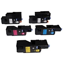 ShopCartridges® Xerox Compatible Value Set (5pk) 6010/6015 for Xerox Phaser 6000/6010/6015 106R01627/106R01628/106R01629/106R01630