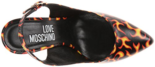 Love Moschino Women's Flame Print Dress Pump Flame Print uV3VMJ3OP0