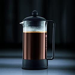 Bodum Brazil 3 cup French Press Coffee Maker, 12 oz, Black