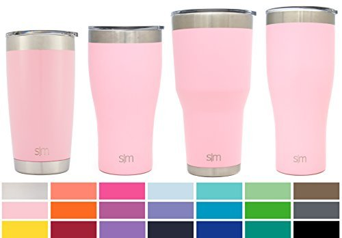 Simple Modern 30oz Cruiser Tumbler Travel Mug - Vacuum Insulated Water Coffee Cup Double Wall - Hydro 18/8 Stainless Steel Flask Thermos - Blush