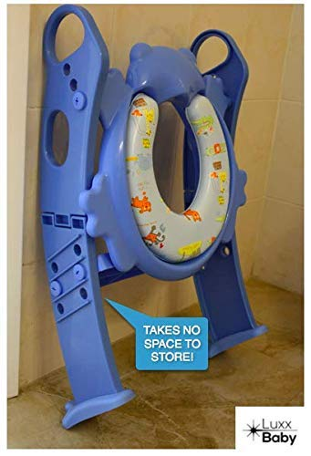 Toddler Training seat with Ladder Mr Frog - 6 Colors to Choose Frog Chair! Blue