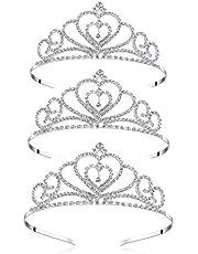 Lovely Shop Girls Rhinestone Crystal Tiara-Wedding Bridal Prom Birthday Pegeant Prinecess Crown (Heart)