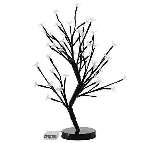 VGEBY - Luz para árbol de Cerezo de 48,26 cm, diseño de Flores, para Fiestas, Bodas y Navidad, Blanco Puro