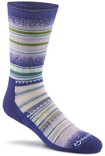 FoxRiver Women's Mariposa Crew Cut Socks, Medium, Purple