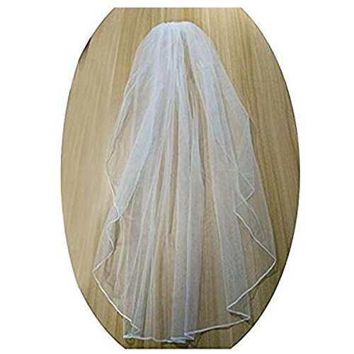Fair Lady Women's 1 Tier Ivory Wedding Veil with Free Comb