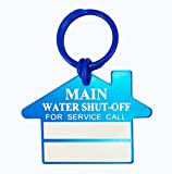 Main Water Shut Off Plumber Tags (Pack of 100) - With Blank Boxes for Company Name