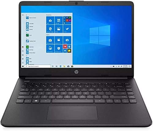 "2021 HP 14"" HD 1366x768 Lightweight Laptop PC, Intel Core i3-1005G1 Processor, 4GB RAM, 128GB SSD, HDMI, Webcam, Wi-Fi, Bluetooth, Windows 10 S, Jet Black, W/ IFT Accessories"
