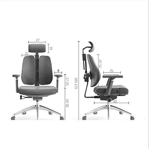 Chaise Pivotante,Chaise D\'Ordinateur Ergonomique Chaise De Personnel De Bureau à Domicile Chaise De Patron Chaise Double Noir