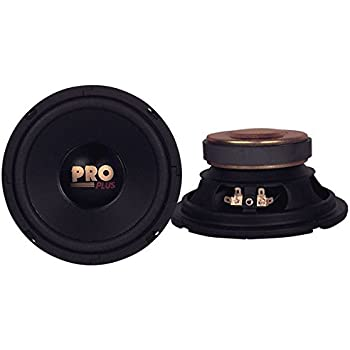 "Car Mid Bass Speaker System Pro 5/"" 200 Watt 4 Ohm Auto Component Poly Woofer Aud"