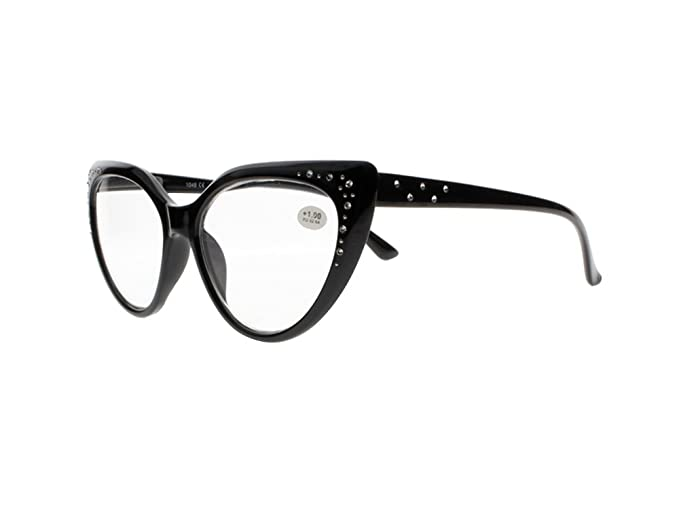 eb0fafe05ab2 Designer Elegant Big Butterfly Cat Eye Rhinestones Reading Glasses Spring  Hinges +1.00 to +4.00