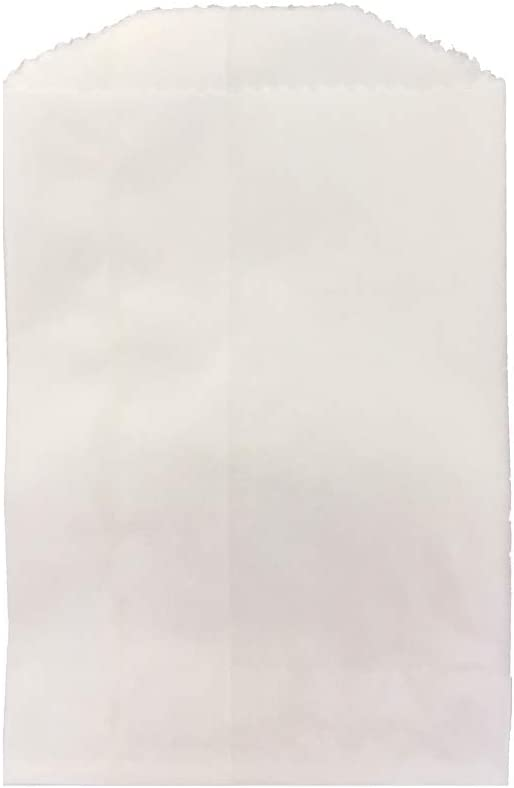 FOOD SAFE set of 100 2 x 3.5 inches White Glassine Coated Paper Bags