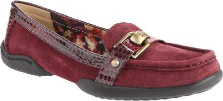 AK Anne Klein Women's Cragen Suede Slip On Loafer, Wine, 7.5 M US