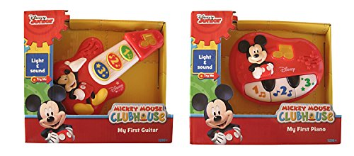 Disney Mickey Mouse My First Guitar and Piano Bundle (Baby Trio Toy)