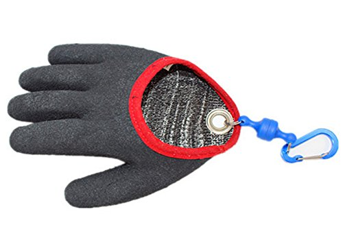 Fishing Glove with Magnet Release,Cut/&Puncture Resistant Hunting Glove Black