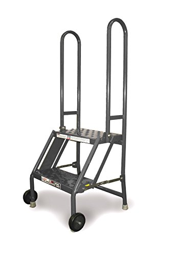 TRI-ARC KDMF102166 2-Step Mobile/Folding Steel Step Stand