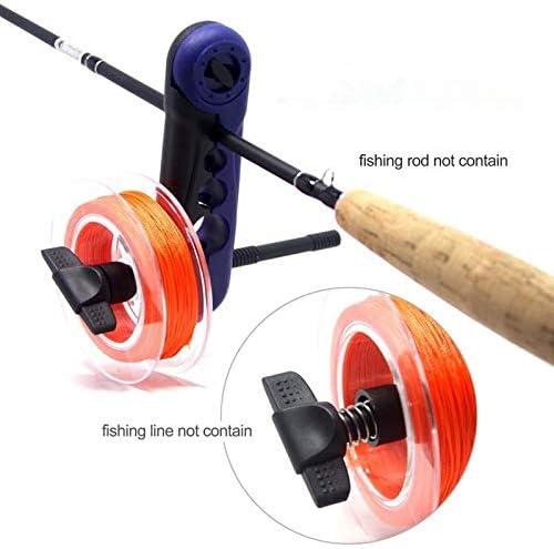 Mini Portable Aluminum Universal Fishing Line Spooler Adjustable for Various Sizes Rod Bobbin Reel Winder Board Spool Line Wrapper Fishing Reel Accessories