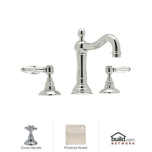 Country Bath Cross (Rohl A1409XMPN-2 Country Bath Low Lead Widespread Bathroom Faucet with Metal Cross Handles and Pop-Up Drain, Polished Nickel)