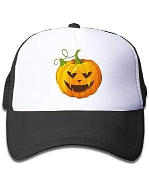 Halloween Pumpkin Clip Art On Kids Trucker Hat, Youth Toddler Mesh Hats Baseball Cap