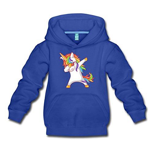 Spreadshirt Dabbing Unicorn With Sunglasses Kids' Premium Hoodie, Youth XL, Royal - Sunglasses Girl Meme