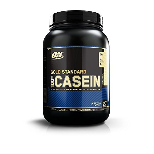 OPTIMUM NUTRITION Gold Standard 100% Micellar Casein Protein Powder, Slow Digesting, Helps Keep You Full, Overnight Muscle Recovery, Creamy Vanilla, 2 - Egg Optimum Protein 100%