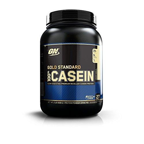 Optimum Nutrition Gold Standard Casein Slow Digesting Protein Powder Shake with Glutamine and Amino Acids, Creamy Vanilla, 28 Servings, 900 g