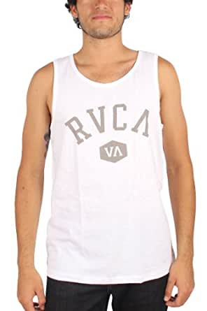 RVCA Athletic White Gray Men's Tank Top (Small)