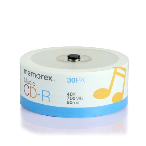 Memorex 32020016609 CD-R 80 40x Eco Spindle Discs, 30 Pack