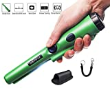 PUDIBE Pinpoint Metal Detector pinpointer - 2019 Fully Waterproof Design Metal detectors for Adults and Kids Green with Belt Holster