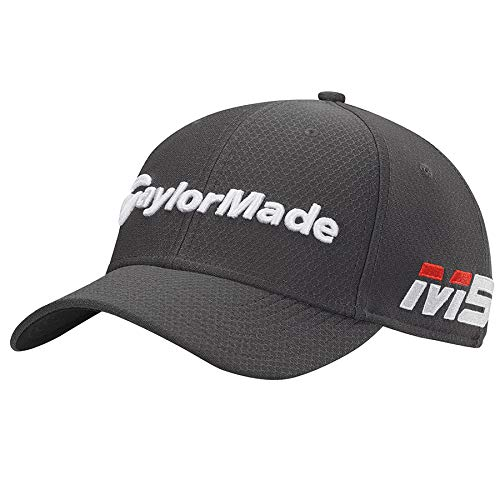 TaylorMade 2019 New Era Tour 39Thirty Hat, Graphite, M/L