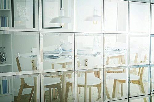 Set di piastrelle specchio quadrato cmx cm autoadesivo vetro