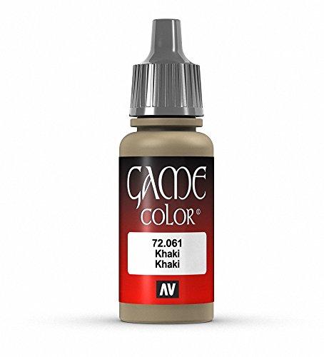 Vallejo Game Color Khaki Paint, 17ml