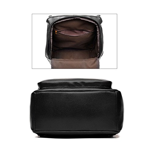 Mochila de cuero PU bolsos mochila mujeres Mochilas tipo casual bolsos de viaje Rojo Bolsos Mochila Negro Bolsos Mochila