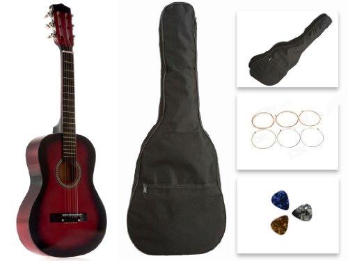 Red Acoustic Guitar Set - 3