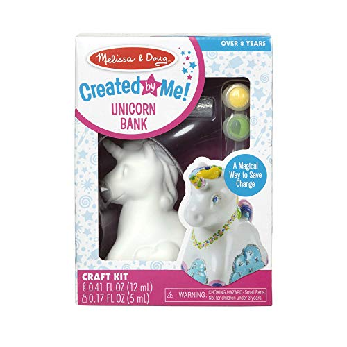 Melissa & Doug Created by Me! Unicorn Bank Craft Kit (Arts & Crafts, Painting & Decorating Keepsake)