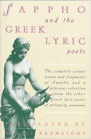 Amazon com: Sappho and the Greek Lyric Poets (9780805208313): Willis