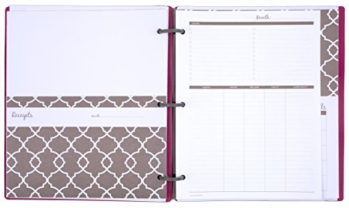 amazon com mead organizher expense tracker budget planner bill