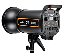 Godox QT Series QT400 400WS High-Speed Photography Studio Strobe Flash Modeling Light Recycling Time 0.05-1.2s (100V-120V) + CEARI MicroFiber Clean Cloth