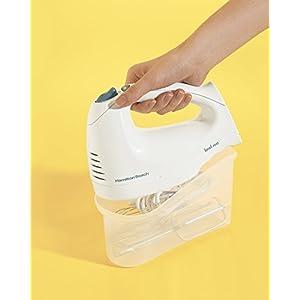 Hamilton Beach 62682RZ Hand Mixer with Snap-On Case, White