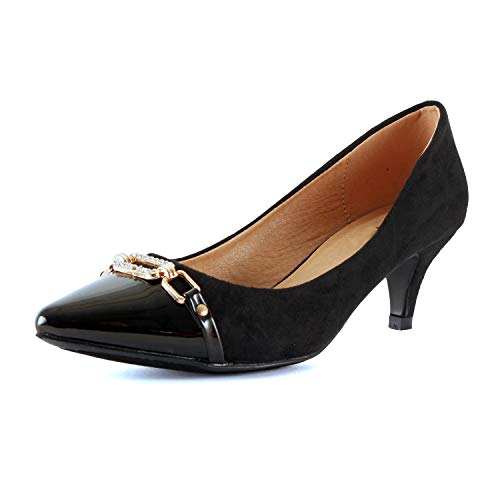 Guilty Shoes - Aubree 12-Black, - Pump Dress Classy