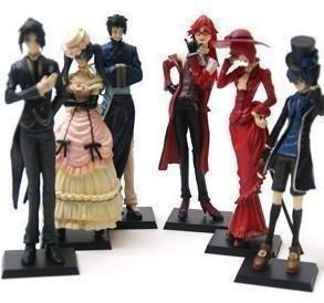 Qiyun 6 Anime Kuroshitsuji Black Butler Characters Figure Set ~FREE PIN with PURCHASE~