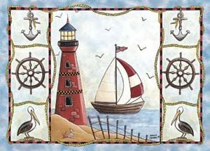Price comparison product image Home Accents Lighthouse Novelty Rug