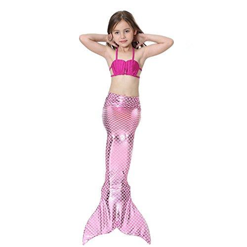 Bagno Monopinna Coda Con Di Top Sirena Rose Pink Nuotare Per Scintillante Saianke Da With z0qadz