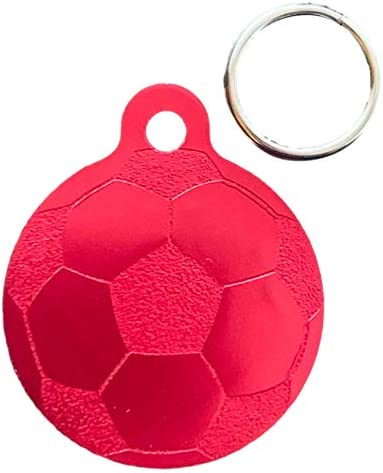 Emblems-Gifts Personalised Football Design Dog Pet ID Tags ENGRAVED FREE