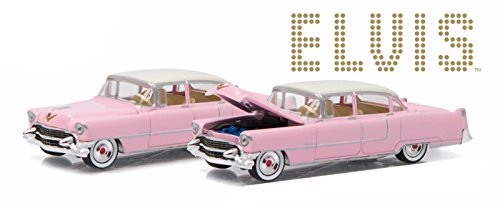 ELVIS PRESLEY'S 1955 PINK CADILLAC FLEETWOOD SERIES 60 * GL Hollywood Series 14 * Greenlight Collectibles 1:64 Scale 2016 Die-Cast Vehicle