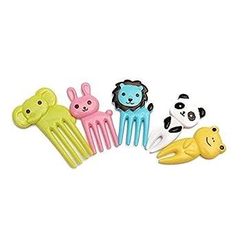 Zdan.uu 10 pcs bento kawaii aliments pour animaux fruits pics fourchettes bo/îte /à lunch accessoires d/écor outil A
