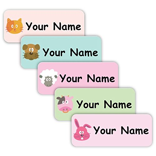 School Original Personalized Peel and Stick Waterproof Custom Name Tag Labels for Adults Kids Use for Office or Daycare Space Unicorn Theme Toddlers and Babies